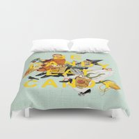 eat Duvet Covers featuring Be Dandy Eat Candy by Heather Landis