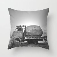 potato Throw Pillows featuring Spud Potato by Jane Lacey Smith