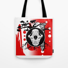 Amos Fortune Trash Polka Tote Bag