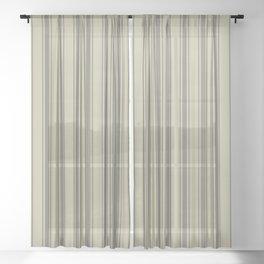 Brown vertical ticking stripes Sheer Curtain