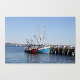 Provincetown Boats Canvas Print