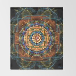 The Sri Yantra - Sacred Geometry Throw Blanket