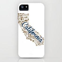 Berkeley University California Landmark State - Blue and Gold University Design iPhone Case