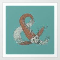 Ampersand Sea monster Art Print