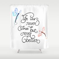 wonderland Shower Curtains featuring Wonderland by Jozi