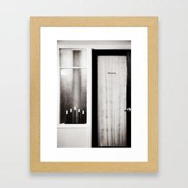 Private Room Framed Art Print