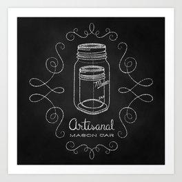 Artisanal Mason Jar Art Print