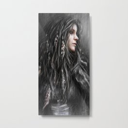 Feathers in Her Hair Metal Print