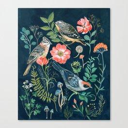 Birds Garden Canvas Print