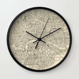 Vintage Map of London Wall Clock