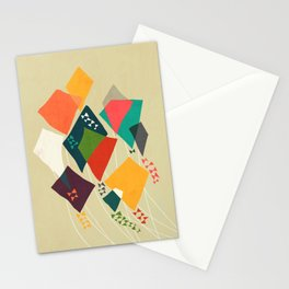 Whimsical kites Stationery Cards