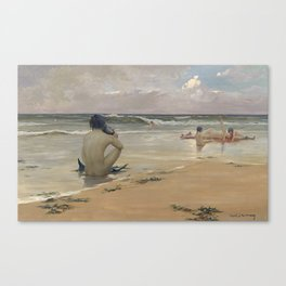 Rupert Bunny - Sea idyll, 1891 Canvas Print