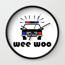 Police Car Wee Woo Wall Clock