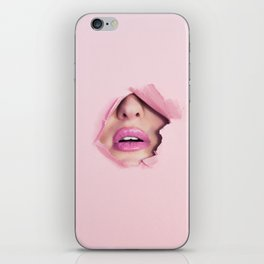 Mouth kiss iPhone Skin