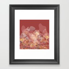 Lines and shapes Framed Art Print