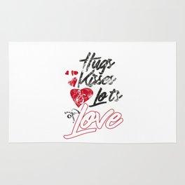 Hugs Kises Love Romantic Valentine Day Gift Rug