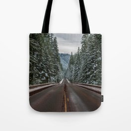 Winter Road Trip - Pacific Northwest Nature Photography Tote Bag
