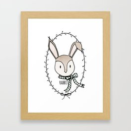 Remarkable Rabbit Framed Art Print