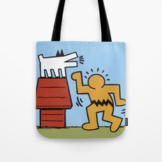 Keith Haring + Charles Schulz Tote Bag