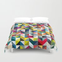 book cover Duvet Covers featuring 100 book cover colours by Coralie Bickford-Smith