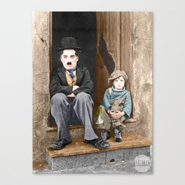 The Kid (1921) - Colorized Canvas Print