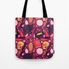 Witch Supplies in Wine Tote Bag