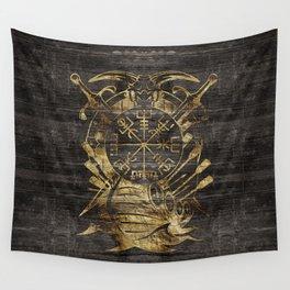 Vegvisir - Viking  Navigation Compass Wall Tapestry