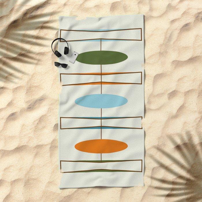 Mid-Century Modern Art 1.2 Beach Towel