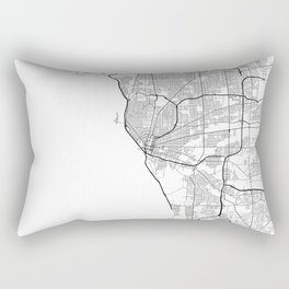 Minimal City Maps - Map Of Buffalo, New York, United States Rectangular Pillow