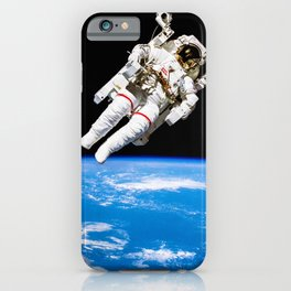 Astronaut Bruce McCandless Floating Free iPhone Case