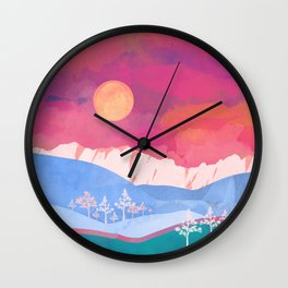 Summer Glow Wall Clock