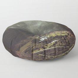 Foggy Forest Creek Floor Pillow