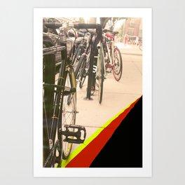 BikeStrips Art Print
