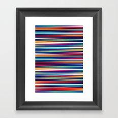 Blurry Lines Framed Art Print