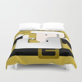 Gold Santa Duvet Cover