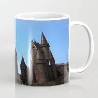 hogwarts Mugs featuring Hogwarts by Blue Lightning Creative