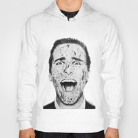 american psycho Hoodies featuring American Psycho by Aoife Rooney Art