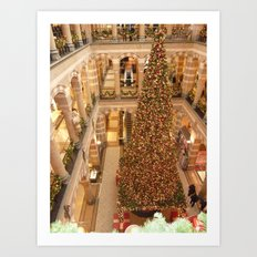 Christmas in Amsterdam Art Print