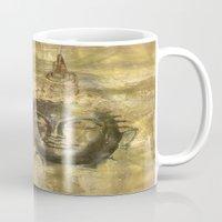 antique Mugs featuring Buddha antique by Digital-Art
