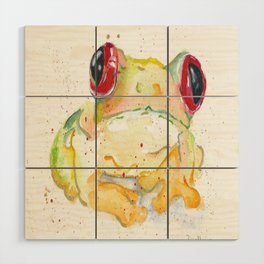 Springy Froggy Wood Wall Art