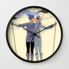 George Barbier - hiver (art deco print) Wall Clock