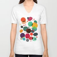 lotus V-neck T-shirts featuring Lotus in koi pond by Picomodi