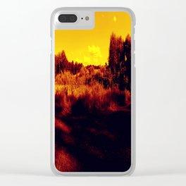 Eyes On Orange Horizons Clear iPhone Case