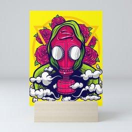 Toxic Apocalyptic Pandemic Respirator Survival Gas Mask Mini Art Print
