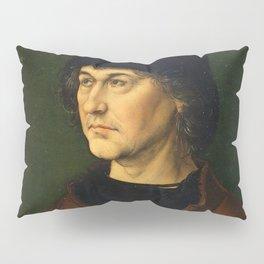 Albrecht Dürer the Elder with a Rosary by Albrecht Dürer Pillow Sham
