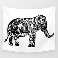 ganesh Wall Tapestries featuring Ganesh by doctusdesign