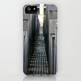 The Holocaust memorial at the Brandenburg Gate in Berlin iPhone Case