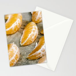 slices of tangerines Stationery Cards