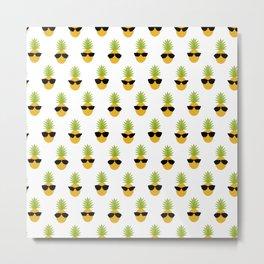 Funny Pineapple Gift Fruit Lover Sunglasses Summer Metal Print
