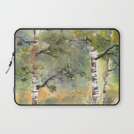 Spring Birch Forest, an original watercolor painting Laptop Sleeve